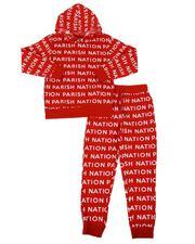 Boys - 2 Pc All Over Print Fleece Hoodie & Jogger Pants Set (8-18)-2567868