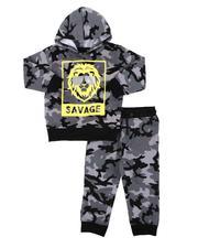 Boys - 2 Pc Savage Lion Camo Fleece Hoodie & Jogger Set (2T-4T)-2568305