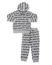 Boys - 2 Pc All Over Print Fleece Hoodie & Jogger Pants Set (4-7)-2567776