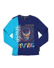 SWITCH - Stay Woke Color Block Long Sleeve Tee (8-20)-2568345