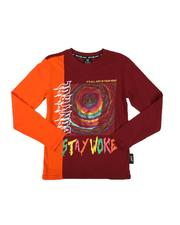 SWITCH - Stay Woke Color Block Long Sleeve Tee (8-20)-2568350