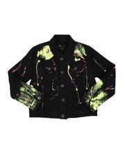 Arcade Styles - Paint Splatter Denim Jacket (8-20)-2568362