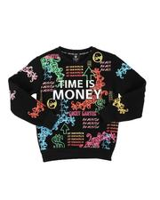 Sweatshirts & Sweaters - Time Is Money Crew Neck Pullover (8-20)-2568367