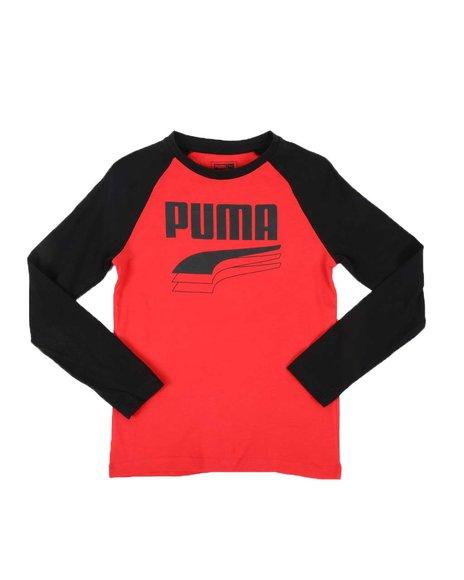 Puma - Rebel Bold Pack Long Sleeve Raglan Tee (8-20)