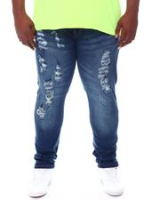 Big & Tall - Stretch Jean W/Tone On Tone Repair (B&T)-2561642