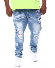 Big & Tall - Bleached Jeans With Contrast Underlay (B&T)-2561856
