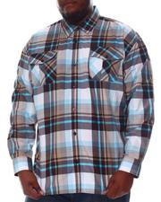 Big & Tall - Plaid Woven Long Sleeve Shirt (B&T)-2572086