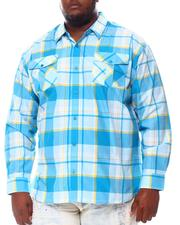 Big & Tall - Plaid Woven Long Sleeve Shirt (B&T)-2572128