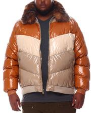 Big & Tall - Colorblock Bomber with Faux Fur Collar (B&T)-2573094