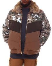 Big & Tall - Colorblock Bomber with Faux Fur Collar (B&T)-2573057
