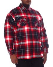 Big & Tall - Flannel Plaid Long Sleeve Shirt (B&T)-2572124
