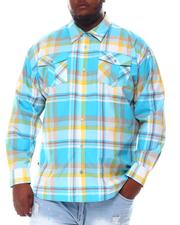 Big & Tall - Plaid Woven Long Sleeve Shirt (B&T)-2572132