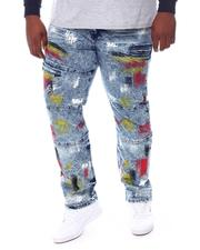 Big & Tall - Paint Splatter Denim Jeans (B&T)-2573570