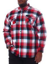 Big & Tall - Plaid Woven Long Sleeve Shirt (B&T)-2572099