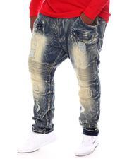 Big & Tall - Rip & Repair Biker Jeans (B&T)-2571841