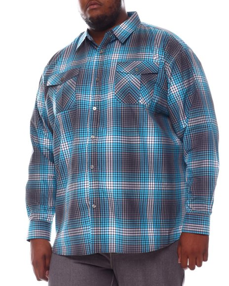 Buyers Picks - Plaid Woven Long Sleeve Shirt (B&T)