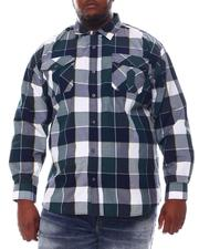 Big & Tall - Plaid Woven Long Sleeve Shirt (B&T)-2572103
