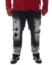Makobi - Biker Jeans With Bleach Spots (B&T)-2573394