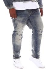 Jeans & Pants - Washed Rip Knee Denim Jeans (B&T)-2569137