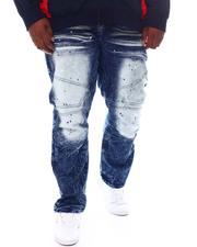 Big & Tall - Paint Splatter Moto Jeans (B&T)-2573672