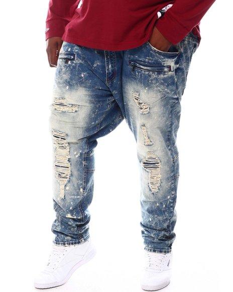 Makobi - Shredded Jeans With Bleach Spots (B&T)
