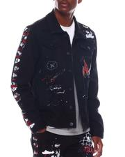 Denim Jackets - DENIM JACKET W/ GRAFFITI and SIDE PAINTS-2571439