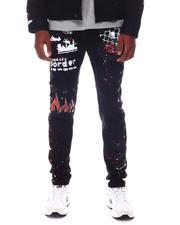 Jeans - Stretch DENIM W/ GRAFFITI and SIDE PAINTS-2571461