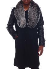Outerwear - Long Overcoat w Faux Fur Collar-2571695