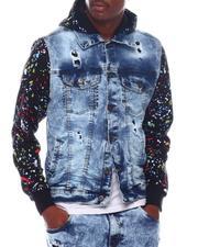 Outerwear - drippy denim jacket-2571746