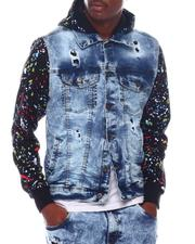 Denim Jackets - drippy denim jacket-2571746