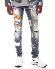 Jeans - Stretch DENIM W/ GRAFFITI + PATCHED PRINT-2571445