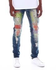 SWITCH - DAMAGED DENIM PANTS W/COLOR EMBROIDERY-2574118