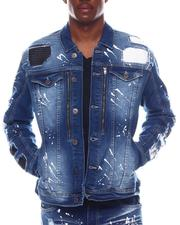 Copper Rivet - PU Quilting Denim jacket-2574165