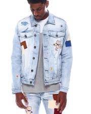 Denim Jackets - DENIM JACKET W/ MULTI BEAR PATCHES-2571427