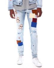Jeans - Stretch DENIM W/ MULTI BEAR PATCHES-2571498