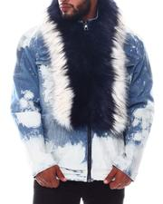 Outerwear - Fur Collar Denim Jacket (B&T)-2572960