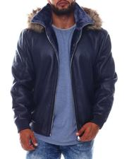 Outerwear - Faux Shearling Coat with Detachable Hood (B&T)-2574090