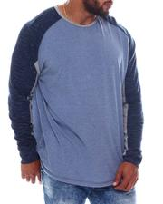 Shirts - Blocked Heather Raglan Shirt (B&T)-2574286