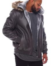 Outerwear - Faux Shearling Coat with Detachable Hood (B&T)-2574093