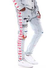 Jeans - Stretch DENIM W/ GRAFFITI and SIDE PAINTS-2571482