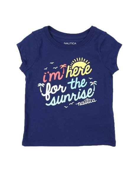 Nautica - Im Here For The Sunrise Tee (2T-4T)