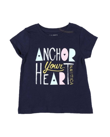 Nautica - Anchor Your Heart Tee (2T-4T)