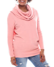 Holiday Shop - Wear 2 Ways Cowl/Off Shoulder Long Slv Sweater-2573105