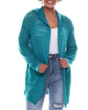 Sweaters - Pointelle Cardigan W/Hood-2573504