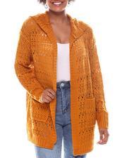 Fashion Lab - Pointelle Cardigan W/Hood-2573522