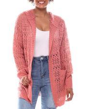 Fashion Lab - Pointelle Cardigan W/Hood-2573558