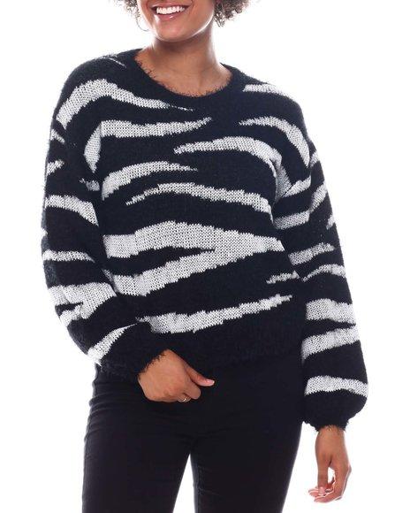 Fashion Lab - Crew Neck Jacquard & Lurex Sweater