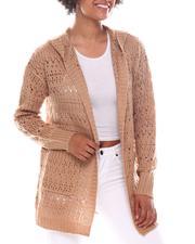 Fashion Lab - Pointelle Cardigan W/Hood-2573478
