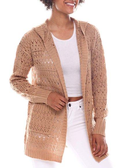 Fashion Lab - Pointelle Cardigan W/Hood