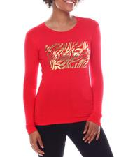 Bebe - Long Sleeve Screen Print T-Shirt-2573801